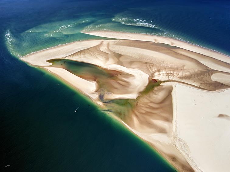 Vue aérienne du Banc d'Arguin par le photographe du Bassin d'Arcachon Stéphane Scotto