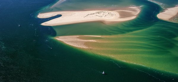 photo aerienne du bassin d'arcachon de stephane scotto