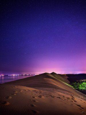 La Dune du Pilat dans la nuit étoilée par le photographe du Bassin d'Arcachon Stéphane Scotto