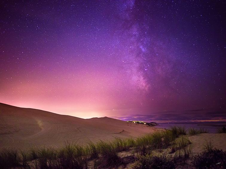 La Dune du Pilat et la voie lactée par le photographe du Bassin d'Arcachon Stéphane Scotto