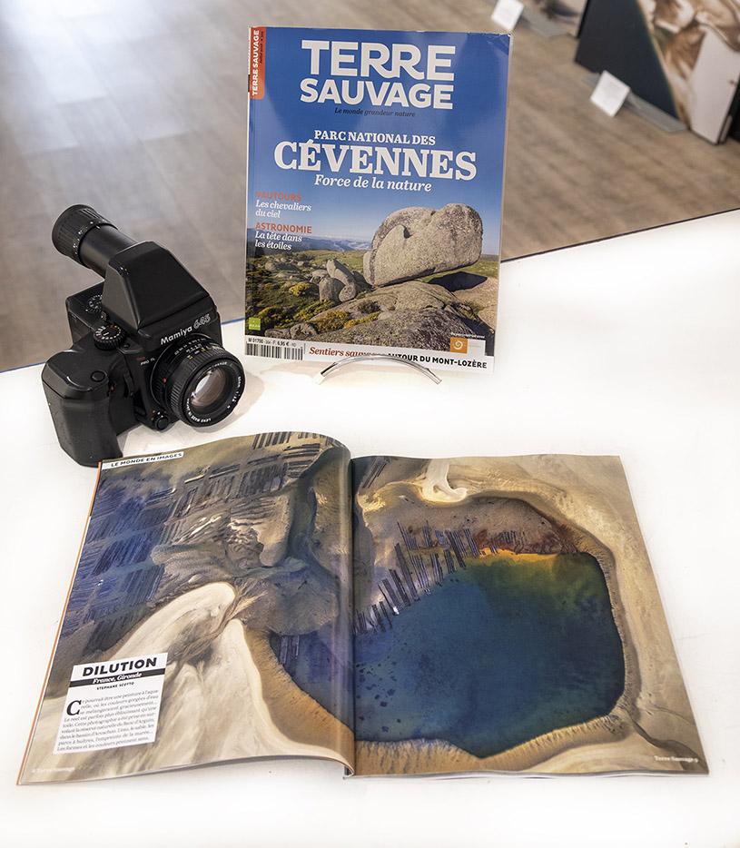 """publication de la photo du Banc d'Arguin """"Une Autre Planète"""" dans le magazine Terre Sauvage"""