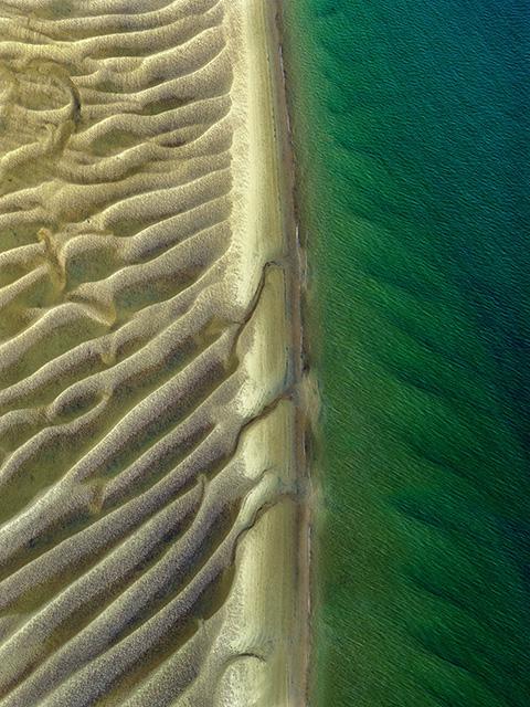 bancs de sable à marée basse Bassin d'Arcachon
