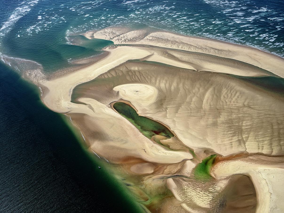 Vue aérienne de la conche sud du Banc d'Arguin