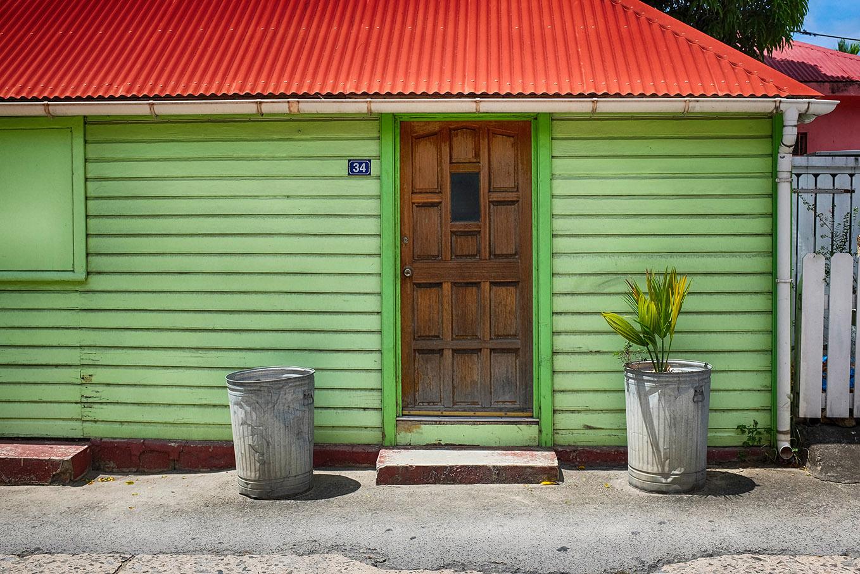 Le centre de Gustavia a su conserver un style créole -Saint-Barthélémy.