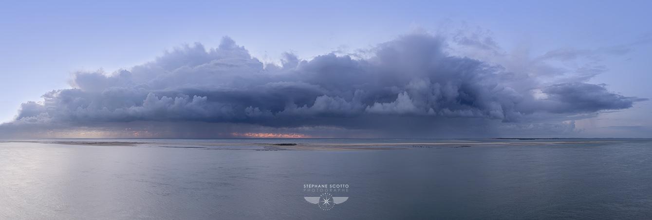 Photo panoramique artistique du Banc d'Arguin par le photographe du Bassin d'Arcachon Stéphane Scotto