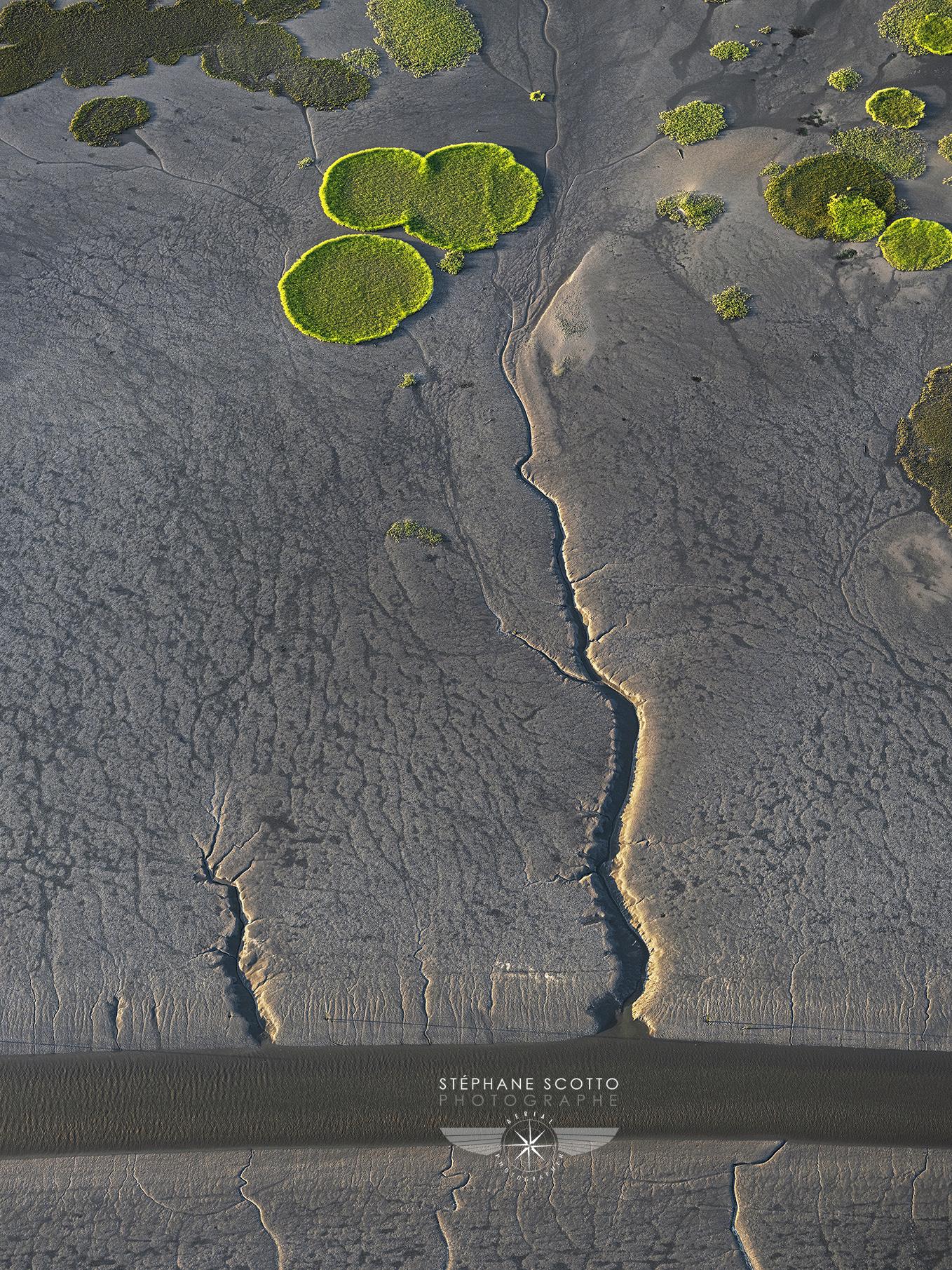 photo aérienne du Bassin d'Arcachon par le photographe Stéphane Scotto