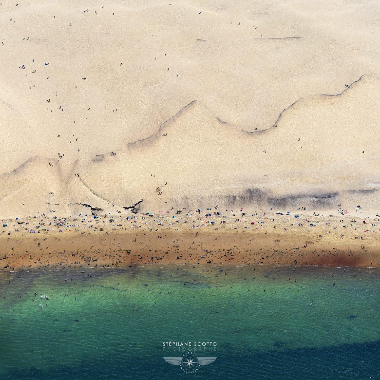 Photo aérienne de la Dune du Pilat par Stéphane Scotto photographe